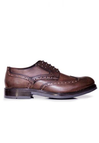 Gino Mariani brown Gino Mariani Men's Leather Shoes FLORANZO - DK BROWN E30BFSH3089E6CGS_1