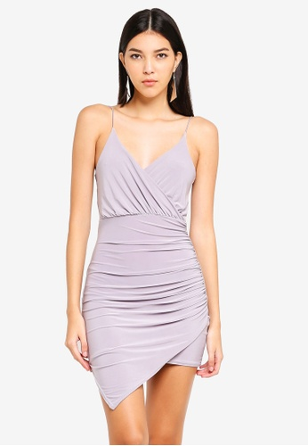 15f058f6829 Shop MISSGUIDED Strappy Slinky Wrap Bodycon Dress Online on ZALORA  Philippines