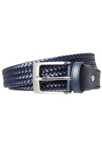 72 SMALLDIVE blue 34 mm Fine Weave Leather Belt Navy 5954DACA4291EFGS_1