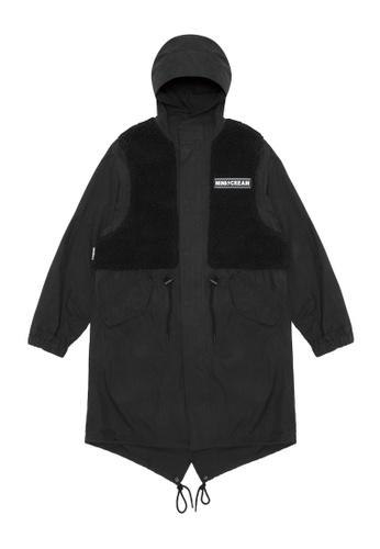 Mini cream black Logo vest over jacket C497CAA61AC554GS_1