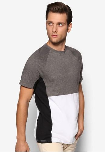 三色拼接短袖TEE, 服飾, esprit門市地址T恤