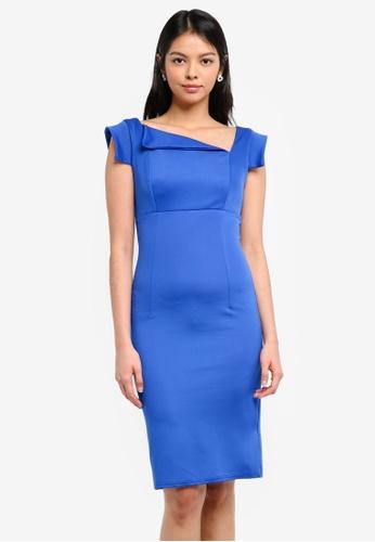 Goddiva blue Chic Mad Men Style Dress D4691AA5D49107GS_1