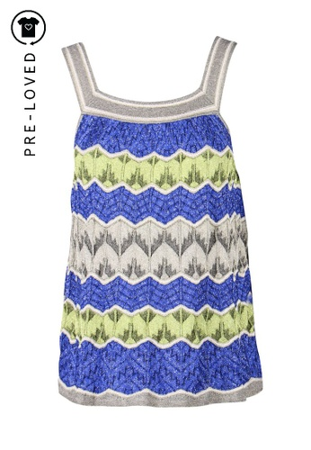 M Missoni multi Pre-Loved m missoni Yellow And Blue Knitted Zig Zag Top 32C24AAA1A267EGS_1