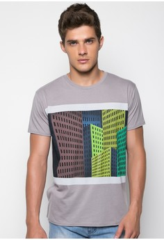 Crew Neck Tee with Photographic Print
