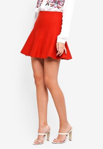 Vero Moda red Fresno Short Knit Skirt 3EEE1AA5D4CD1CGS_1