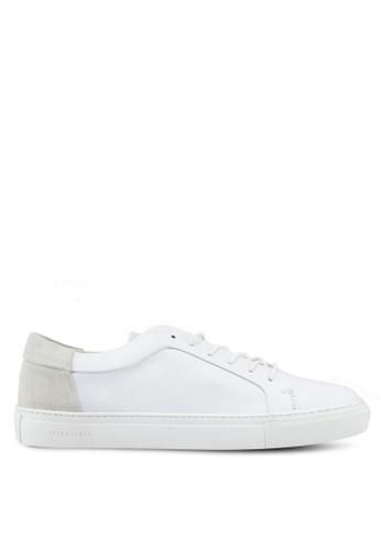 Jack & Jones white Sputnik Block Sneakers 653E1SHB6C046AGS_1