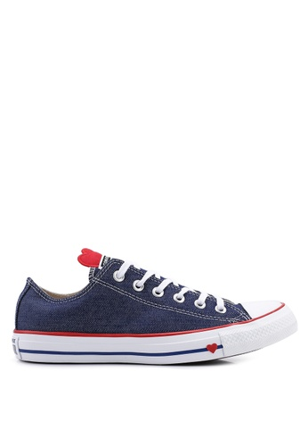 311060b51bf Converse navy Chuck Taylor All Star Sucker For Love Ox Sneakers  B4AEESHB14638EGS 1