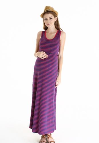 Bove by Spring Maternity red Knitted Sleeveless Alyssa Maxi Dress Red Str FDD9FAAFDDD2E1GS_1