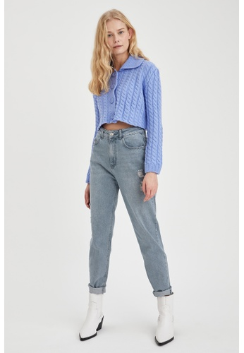 DeFacto grey Woman Denim Trousers B697AAA65F5BC5GS_1