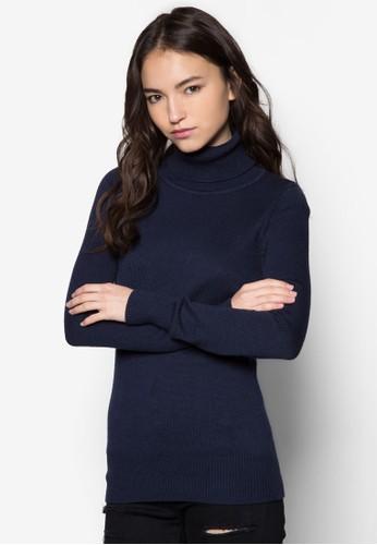 羊毛混紡高領織esprit outlet 桃園衫, 服飾, 服飾