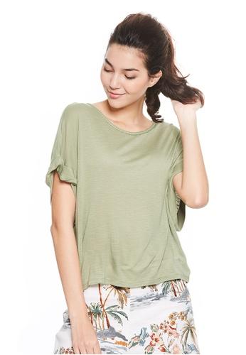 United Colors of Benetton green Round neckline T-shirt 790FDAAACF0F9CGS_1