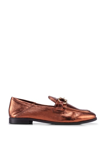 River Island 褐色 Hayley Snaffle 樂福鞋 B51F2SHB0CBA21GS_1