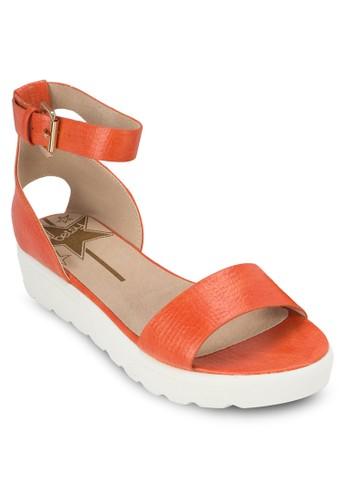 素色繞踝厚底涼鞋, esprit服飾女鞋, 鞋
