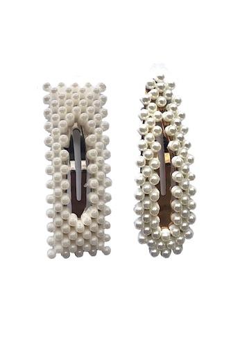 Glamorbit white Pearl Hair Clips (2 Pieces) A9198AC7BFEAC5GS_1
