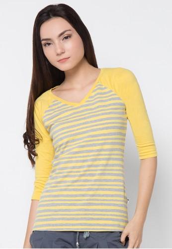 LOIS JEANS yellow Raglan T-Shirt LO391AA91JYMID_1