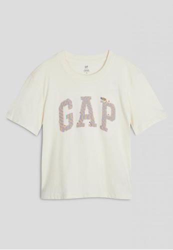 GAP beige Kids Interactive Graphic T-Shirt 70F6EKA030F5C2GS_1