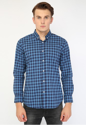Minarno blue Gingham 014 67C35AA06FF343GS_1