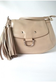 Sandstorm Hue Waxy Leather Baguette