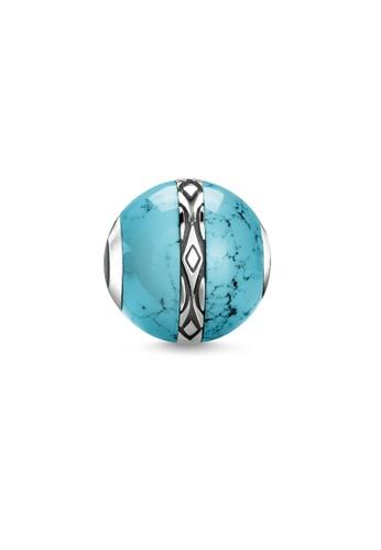 "THOMAS SABO silver Bead ""ornament turquoise"" FD788ACDB0F115GS_1"