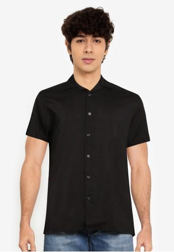 Springfield black Black Bowling Shirt 4B234AAAEBED91GS_1