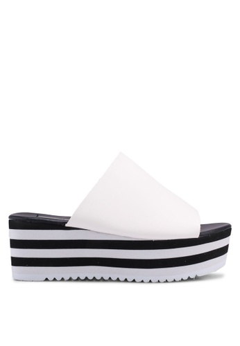Nose white Casual Wedge Heel Slides 03EDDSH766CE98GS_1