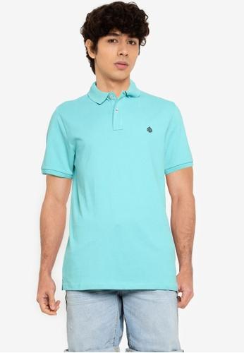 Springfield blue Essential Slim Polo Shirt 9DF92AAFA243A1GS_1