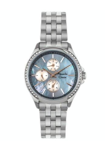 Alexandre Christie silver Alexandre Christie Jam Tangan Wanita - Silver Blue - Stainless Steel - 2598 BFBSSMR 91C07ACBE63940GS_1