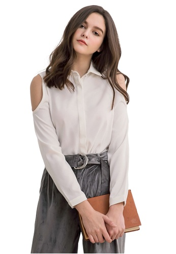6f09c80ab7a96 Buy Kodz Shoulder Cut-Out Blouse Online on ZALORA Singapore