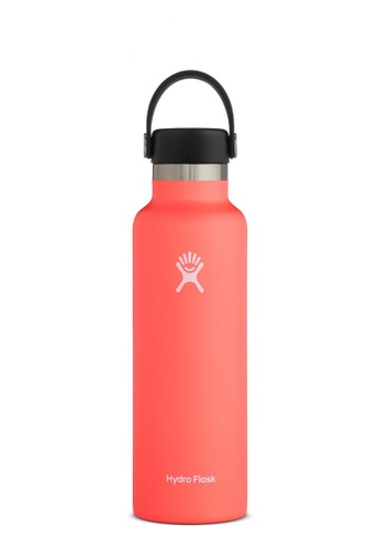 Hydro Flask red Hydro Flask Standard Mouth Insulated Stainless Steel Drinking Water Bottle - 21OZ Hibiscus D332EACD39AAEFGS_1