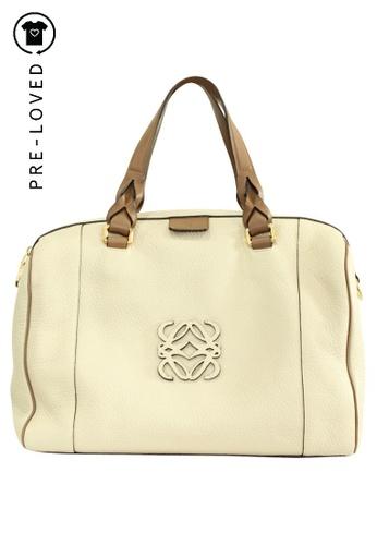 LOEWE beige Pre-Loved loewe Bolso Fusta 31 Piedra Handbag D4EA8ACC88C164GS_1