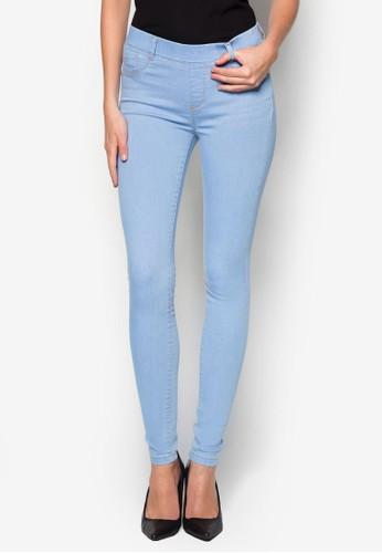 Ice Blue 'Eden' Ultra Soft Jeggings, 服飾zalora是哪裡的牌子, 彈力牛仔褲