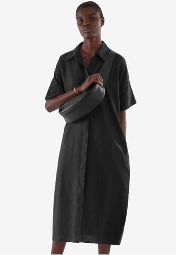 COS black Linen Shirt Dress 1C5ECAAA8833C6GS_1