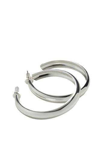 Mango silver Hoop Earrings 6FD5DACF36C056GS_1