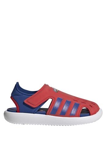 ADIDAS 紅色 water sandals 1C65BKS683147FGS_1
