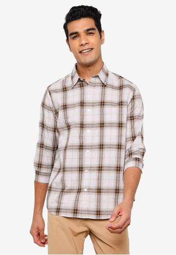 RAGEBLUE brown Half Sleeve Shirt F90A6AA8678C9AGS_1