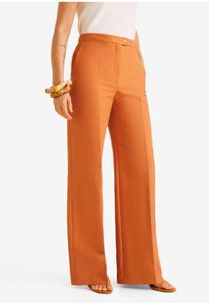 5de87523e5956 MANGO orange Straight Suit Trousers 08FE6AA5FA3F6BGS 1