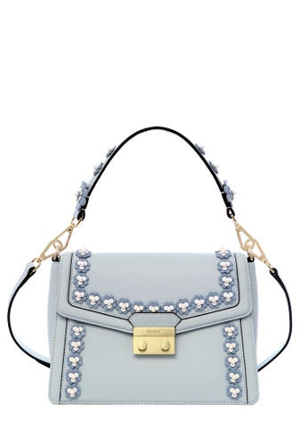 BONIA blue Ice Blue Lexington Pearla Shoulder Bag S 8A183ACB051AAAGS_1