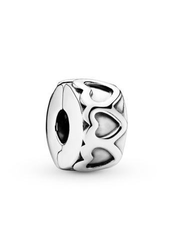 PANDORA silver Pandora Band of Hearts Clip Charm F41BFACE49135AGS_1