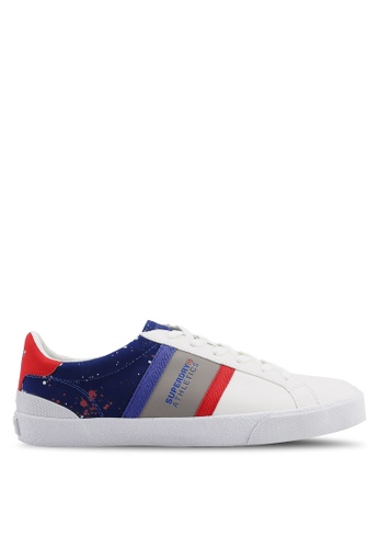 Superdry white Vintage Court Trainers AB63CSH64E682BGS_1