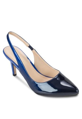 漸層色繞踝高跟鞋、 女鞋、 鞋ZALORA漸層色繞踝高跟鞋最新折價