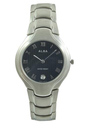 Alba silver ALBA Jam Tangan Pria - Silver Black - Stainless Steel - AVKA69 AL383AC0V4YCID_1