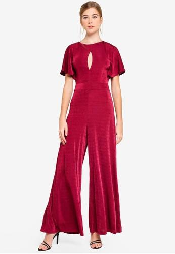 cbfe9f8b0ea Miss Selfridge red Slinky Angel Wide Leg Jumpsuit 7C73AAA6167714GS 1