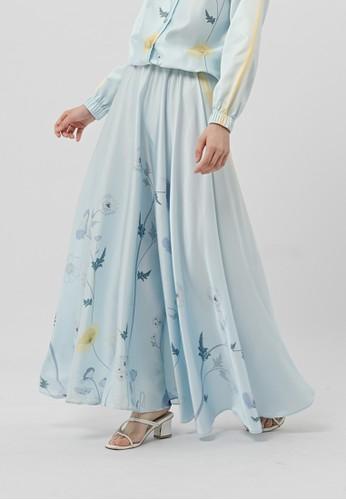 KNW blue Bree Circle Skirt Sky Blue 04D0CAA270DA9EGS_1