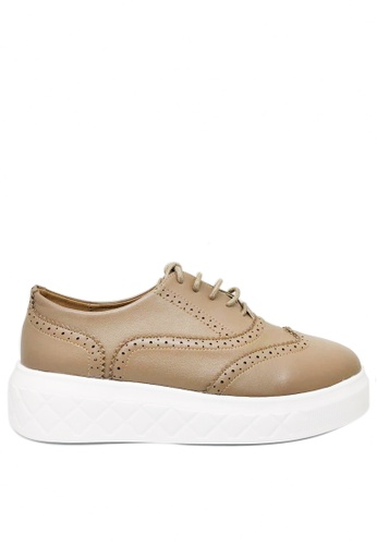 Twenty Eight Shoes brown Raised-sole Low-top Trainers 7239-1 C9917SH9A8DE34GS_1