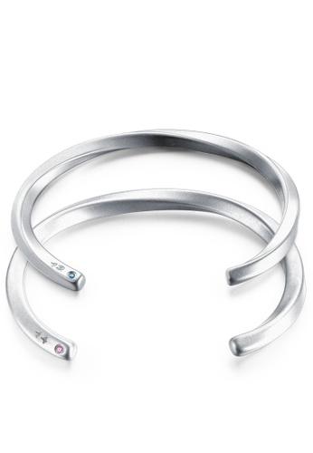 Trendyshop silver 1314 Couple Bangle Set B4487AC0DBE7D0GS_1