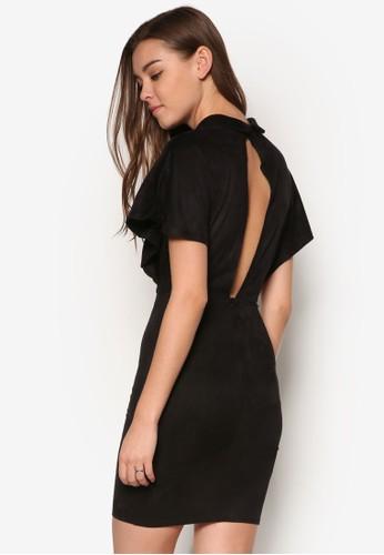 Dolman 鏤空短袖洋裝, 服飾, 洋zalora 評價裝