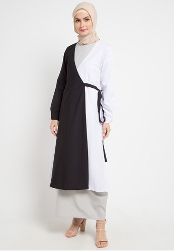 OMARA white Kaela Dress 00810AA8FEEAEBGS_1