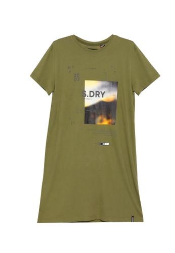 SUPERDRY green Desert Graphic T-Shirt Dress 9EF2AAA7AF5EDCGS_1