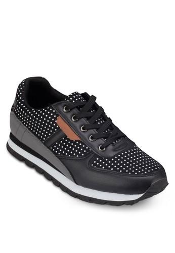 點點印花拼接休zalora 折扣碼閒鞋, 女鞋, 休閒鞋