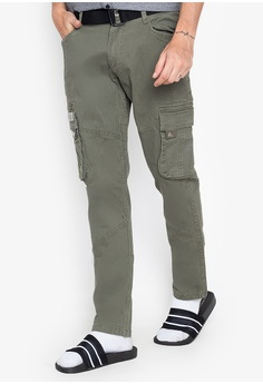 bf7f8692ba Freego green Low Waist Slim Straight Cargo Pants AD817AABD8E834GS_1